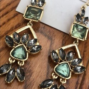 BCBGeneration dangling stone drop earrings